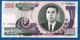 Corée Du Nord -  5000 Won  -  Pick # 46  - état  SPL - Corée Du Nord