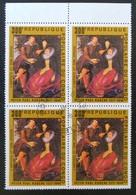 TABLEAU DE RUBENS - L'ARTISTE ET SON EPOUSE 1978 - 1 BL X 4 OBLITERE - YT 483 - HAUT DE FEUILLE - Congo - Brazzaville