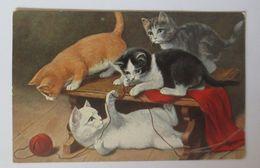 Katzen, Wolle, Stricken, 1926 ♥ (1693) - Chats