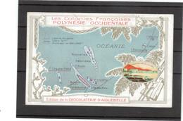 B12 - Cartographie Nouvelles Hébride - Nouvelle Calédonie Foutouna - Wallis ......sur Carte Publicitaire - - Timbres