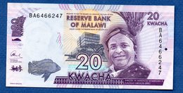 Malawi -  20 Kwacha 1/1/2016 -  Pick # 63  - état  UNC - Malawi