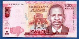 Malawi -  100 Kwacha 1/1/2016 -  Pick # 65  - état  SPL - Malawi