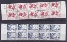 1981 Danimarca Denmark  EUROPA CEPT EUROPE 10 Serie Di 2 Valori MNH** Striscia - 1981