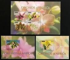 # Liberia 2011**Mi.5989-94  Orchids , MNH [11;250/12;66,78] - Orquideas