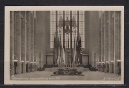 """Dt.Reich Propagandakarte Berlin Internationale Jagdausstellung """" Ehrenhalle """" EF 516 Mit Gleichem SSt 1937 - Deutschland"""