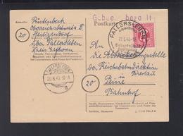 Alliierte Besetzung PK 1946 Fallersleben Gebühr Bezahlt - American/British Zone