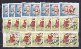 1981 Portogallo, Azzorre Madeira Portugal Azores Madera EUROPA CEPT EUROPE 21 Serie MNH** 8 Azzorre + 13 Madera - 1981