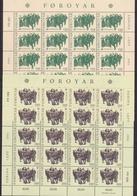1981 FAROER Faroe Danimarca Denmark EUROPA CEPT EUROPE 20 Serie Di 2v. MNH** In Minifoglio Minisheet - 1981