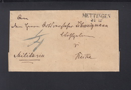 Falthülle Mettingen 1837 Militaria - Deutschland