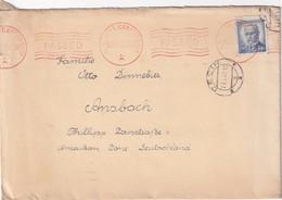 TCHECOSLOVAQUIE 1947 LETTRE CENSUREE DE DECIN POUR ANSBACH - Tschechoslowakei/CSSR