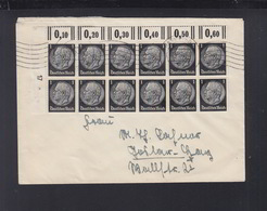 Dt. Reich Brief 1942 12er Block Hannover - Germania