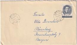TCHECOSLOVAQUIE 1956 LETTRE  DE DECIN POUR NÜRNBERG - Tschechoslowakei/CSSR