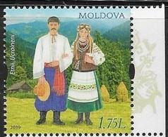 MOLDOVA , 2019, MNH, UKRAINIANS, TRADITIONAL COSTUMES, MOUNTAINS,1v - Costumes
