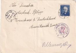 TCHECOSLOVAQUIE 1948  LETTRE  DE DECIN POUR ANSBACH - Tschechoslowakei/CSSR