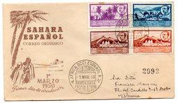 Sobre De Primer Dia De 1950 Circulado Africa Occidental. - Maroc Espagnol