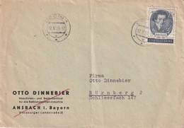TCHECOSLOVAQUIE 1955 LETTRE DE DECIN POUR NÜRNBERG - Tschechoslowakei/CSSR