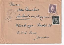 TCHECOSLOVAQUIE 1951 LETTRE DE VARNSDORF POUR ANSBACH - Tschechoslowakei/CSSR