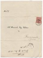 DA MUNICIPIO DI FANO A FIORENZULA - 15.9.1871. - Marcophilia