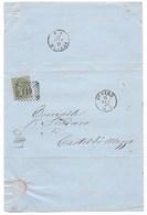 DA TESORERIA CONGREGAZIONE DI CARITA' DI PESARO A CASTEL DI MEZZO - 11.2.1870. - Marcophilia