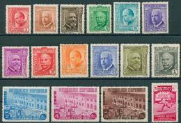 España 1936 - Edifil 695/710 MH - XL Aniversario De La Asociación De La Prensa - 1931-Hoy: 2ª República - ... Juan Carlos I