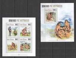 ST1200 2013 GUINE GUINEA-BISSAU PREHISTORIC HUMANS HUMANOS PRE-HISTORICOS KB+BL MNH - Prehistory