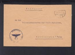 Dt. Reich Feldpost Mit Aptiertem Stempel 1941 An Polizeipräsidenten Karlsruhe - Cartas