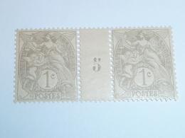 Millésime TYPE BLANC ; 1c Grix 1B YT N° 107  Millésime 5 - 1900-29 Blanc