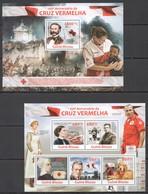 ST1214 2013 GUINEA-BISSAU 150TH ANNIVERSARY RED CROSS CRUZ VERMELHA KB+BL MNH - Croce Rossa