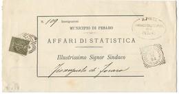 DA UFFICIO ANAGRAFE DI PESARO A FIORENZUOLA - 30.10.1894. - 1878-00 Umberto I