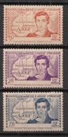 Côte D'Ivoire - 1939 - N°Yv. 141a à 143a - René Caillié - VARIETE Sans Légende - Neuf Luxe ** / MNH / Postfrisch - Côte-d'Ivoire (1892-1944)
