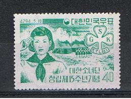 COREA  DEL  SUD:  1961  ANNIVERSARIO  -  40 H. VERDE-BLU  N. -  YV/TELL. 254 - Corea Del Sud