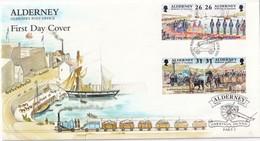 ALDERNEY LOT DE 4 FDC - Alderney