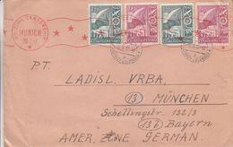 Tchècoslovaquie - Lettre De 1947 - Oblit Stepanov Olomouce - Exp Vers München - Avec Censure - Tschechoslowakei/CSSR