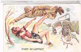 ILLUSTRATEUR  LOUIS CARRIERE  Pin Up 9x14 N° 389  PRISE DE CONTACT CPM BE - Carrière, Louis