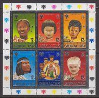 Gibraltar 1979 Christmas / Year Of The Child 6v In M/s ** Mnh (42916) - Gibraltar