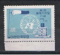 COREA  DEL  SUD:  1961  GIORNATA  DELLA  METEOROLOGIA  -  40 H. BLU  CHIARO  E  BLU  N. -  YV/TELL. 250 - Corea Del Sud