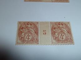 Millésime TYPE BLANC ; 4c   YT N° 110  Millésime 5 - 1900-29 Blanc