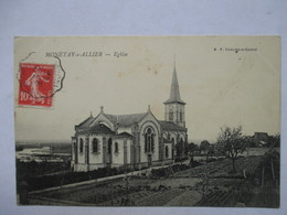 MONETAY-s-ALLIER  -  EGLISE     -    CACHET CONVOYEUR   EBREUIL  A  ST. BONNET DE ROCHEFORT               TTB - Autres Communes