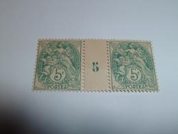 Millésime TYPE BLANC ; 5c   Vert YT N° 111  Millésime 5 - 1900-29 Blanc