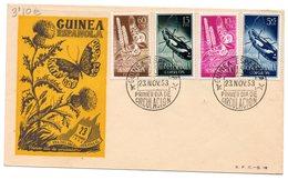 Sobre De Primer Dia De 1953  Serie Nº 330/3  Guinea - Guinea Spagnola
