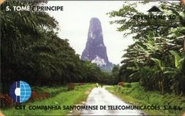 Sao Tome And Principe - ST-CST-0006, L&G, Mountain, Road, Trees, 806L, 6.000ex, 6/98, Used - Sao Tome And Principe
