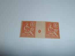 Millésime TYPE MOUCHON ; 15c   ORANGE YT N° 117  Millésime 0 - 1900-02 Mouchon