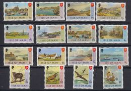 Isle Of Man 1973 Definitives 16v ** Mnh (42917) - Man (Eiland)