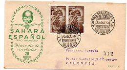 Sobre De Primer Dia De 1949  Circulado. Sahara - Sahara Espagnol