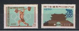 COREA  DEL  SUD:  1960  GIOCHI  OLIMPICI  DI  ROMA  -  S. CPL. 2  VAL. N. -  YV/TELL. 239/40 - Corea Del Sud
