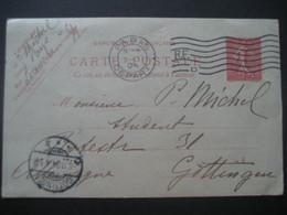 Frankreich/ France- Ganzsache Carte Postale 1904 Von Paris Nach Göttingen - Enteros Postales