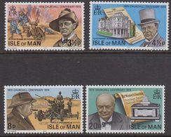 Isle Of Man 1974 Sir Winston Churchill 4v ** Mnh (42918) - Man (Eiland)