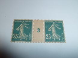 Millésime SEMEUSE CAMEE ; 25c   Bleu  YT N° 140  Millésime 3 - 1906-38 Semeuse Con Cameo
