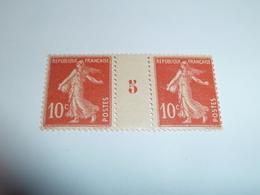 Millésime SEMEUSE CAMEE ; 10c  Rouge  YT N° 138  Millésime 5 - 1906-38 Semeuse Camée