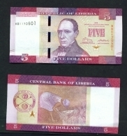 LIBERIA  -  2016  $5  UNC - Liberia